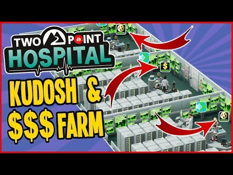 Kudosh & $$$ Farm + 100% Research!! - Two Point Hospital Gameplay #20 (Full Release)