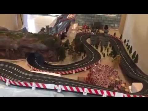 Carrera slot car Game of Thrones track test run