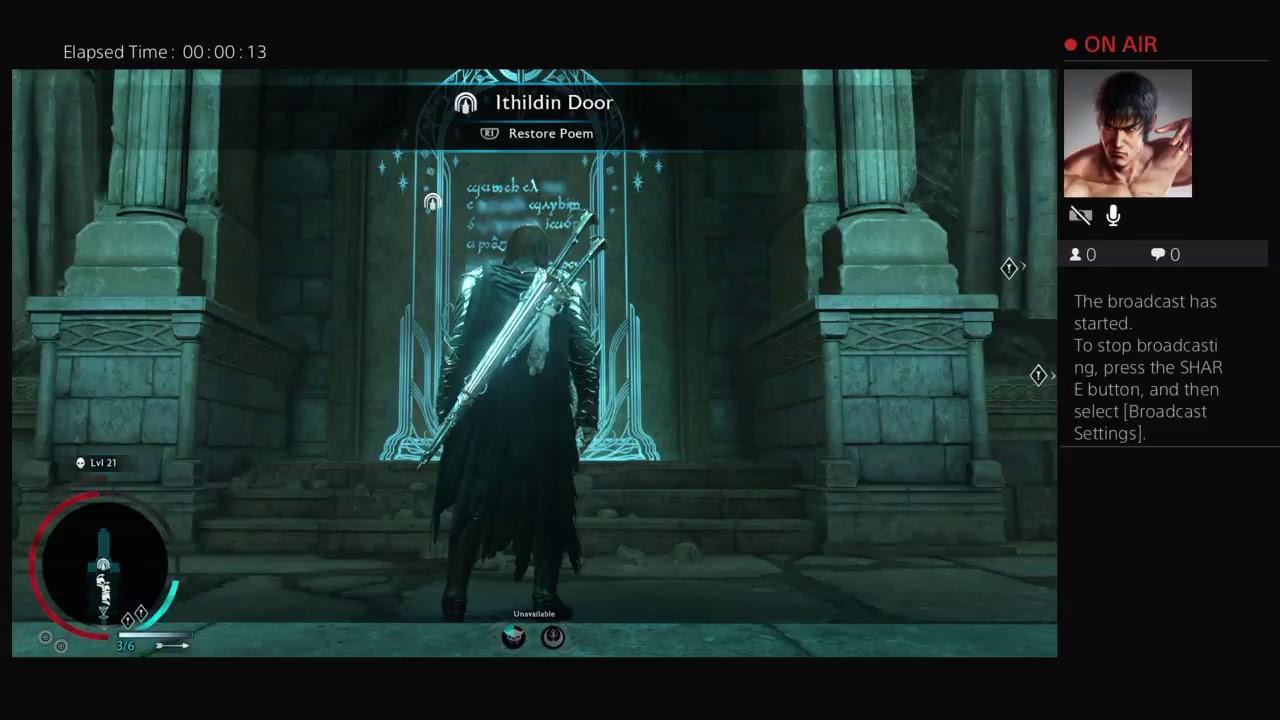 Shadow Of War Nurnen Ithildin Door Password