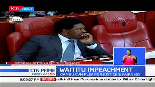 Waititu Impeachment: Kiambu Governor pleads for Justice and Fairness