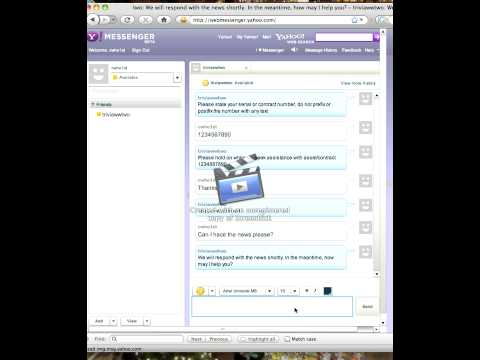 Yahoo Chat Client: Interacting With Imified Bot