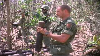 Soldiers of US 1st infantry division empty cache of Viet Cong munitions during Op...HD Stock Footage