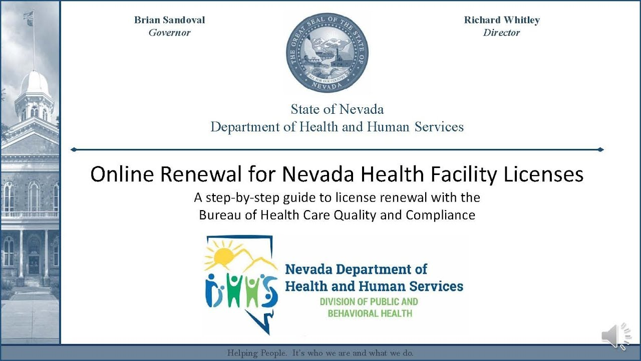 Online License Renewal Tutorial For Nevada Health Facilities Youtube