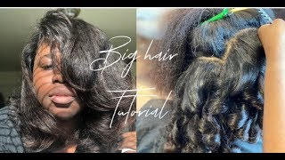 How I get Big Hair with a Silk press