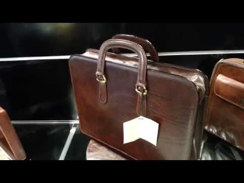 2115 Business brown briefcase real leather, high quality Full Grain Made in Italy - Unisex
