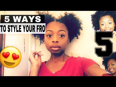 5 WAYS TO STYLE YOUR AFRO! Short natural hairstyles