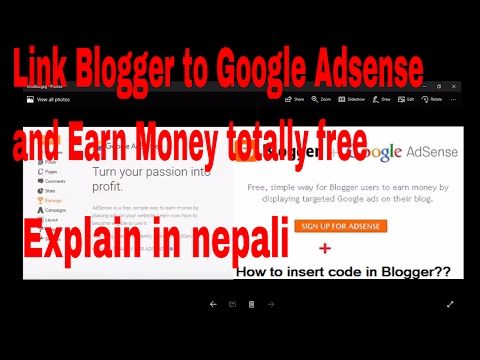 How to Link Blogger to Google Adsense & Earn Money ?||in nepali