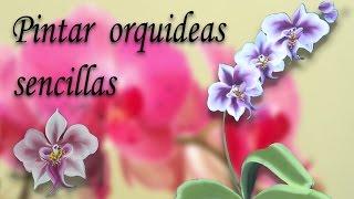 Pintar orquideas sencillas