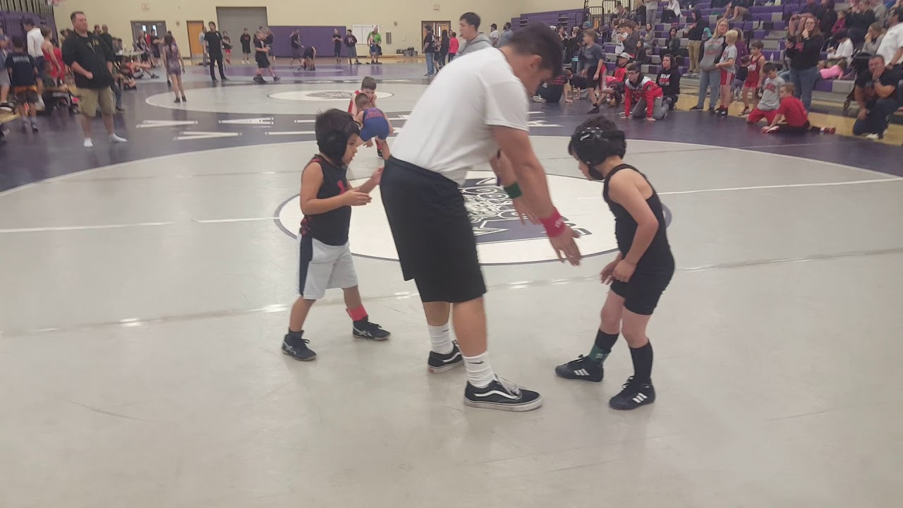 12 Years Old - 1st Wrestling Tournament - Win by Pin (3rd