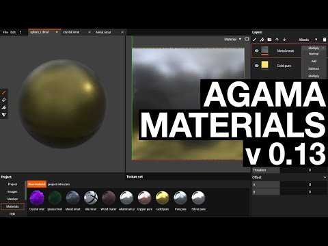 Agama materials v0.13 - Layer Blend modes, custom attributes and hotkeys