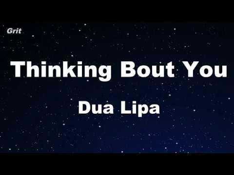 Thinking 'Bout You - Dua Lipa Karaoke 【With Guide Melody】 Instrumental