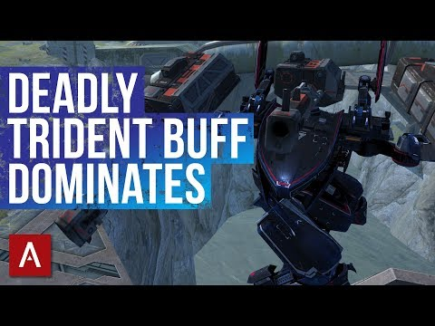 War Robots Deadly Trident Buff With NEW Redesign / Falcon and Fury Trident Gameplay | WR