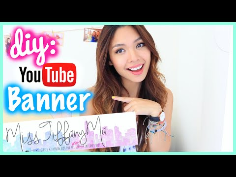 I Love YouTube Channel Art - how to make banner for youtube