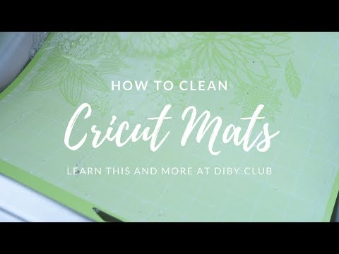 How to Clean Your Cricut Mat | Make Your Cricut Mats Sticky Again!