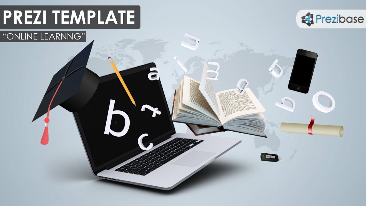 online learning prezi template youtube