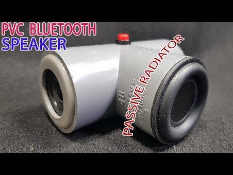 DIY v2 PVC Bluetooth Speaker with Passive radiator