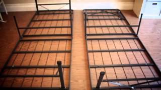 Keetsa Tea Leaf Supreme Mattress And Steel Bed Frame.