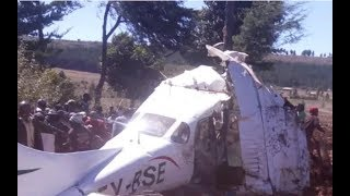 Londiani craft crash: Witness recounts how plane staggered then went down as crash kills 5 people
