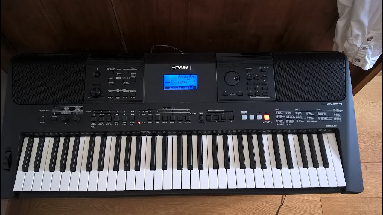 yamaha psr e453 demo youtube