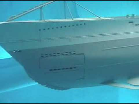 RC VII class submarine firing torpedoes