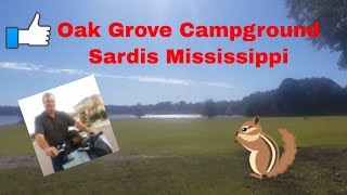 Oak Grove Campground Sardis Lake Mississippi