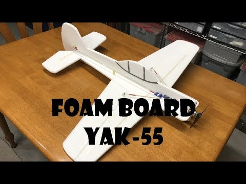 Dollar Store Foam Board 3D Airplane