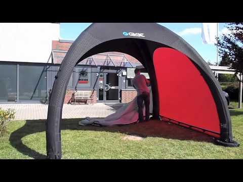 quechua pavillon aufblasbar weide gybe tent das messezelt. Black Bedroom Furniture Sets. Home Design Ideas