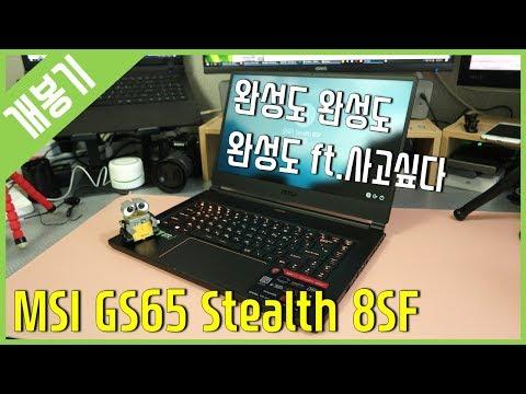 [개봉기] 완성도 높은 게이밍 노트북 - MSI GS65 Stealth 8SF SSD 256GB
