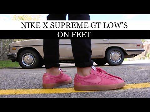 huge discount 1406e c6291 Supreme x Nike SB Blazer GT Low On Feet - YouTube