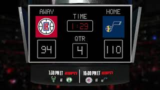 Clippers @ Jazz  LIVE Scoreboard - Join the conversation and catch all the action on ESPN!