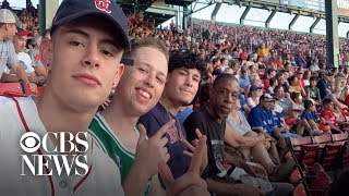 Group of friends give homeless man their extra ticket to Red Sox game