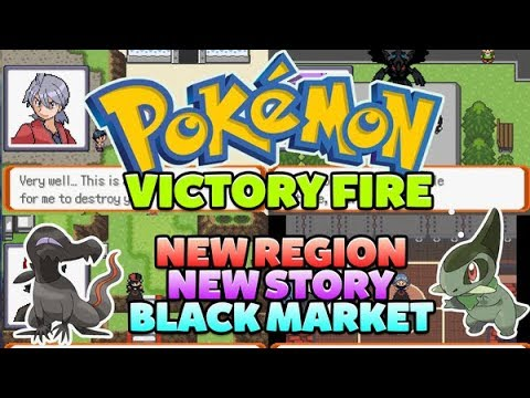 Pokemon Victory Fire [Completed] - GBA Game With Black Market,New Story+Region!