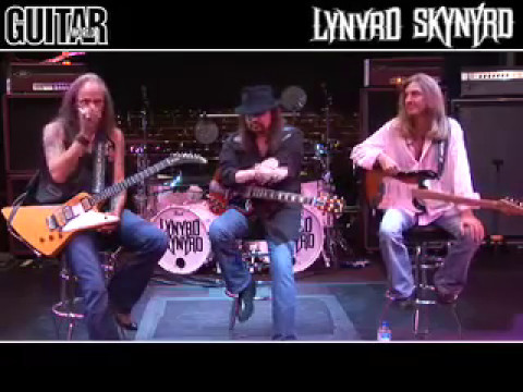 Lynyrd Skynyrd - Gary, Rickey, Sparky Show us how to play FREE BIRD