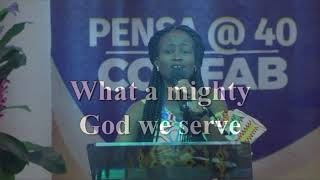 Typical Pentecostal Worship PENSA @40 led by Nana Ama  Esther Japa