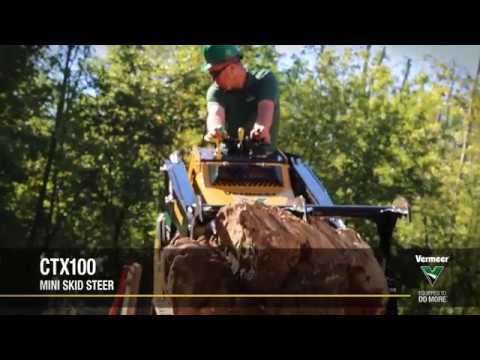 Vermeer CTX100 Skid Steer Loader In Action