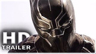 BLACK PANTHER: Bucky Vs Black Panther Fight Scene + Black Panther Trailer (2018) Marvel Movie HD