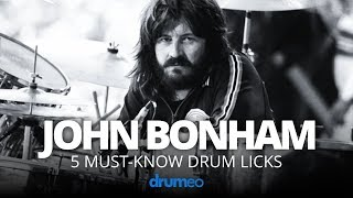 5 Must-Know John Bonham Drum Licks (Drum Lesson)