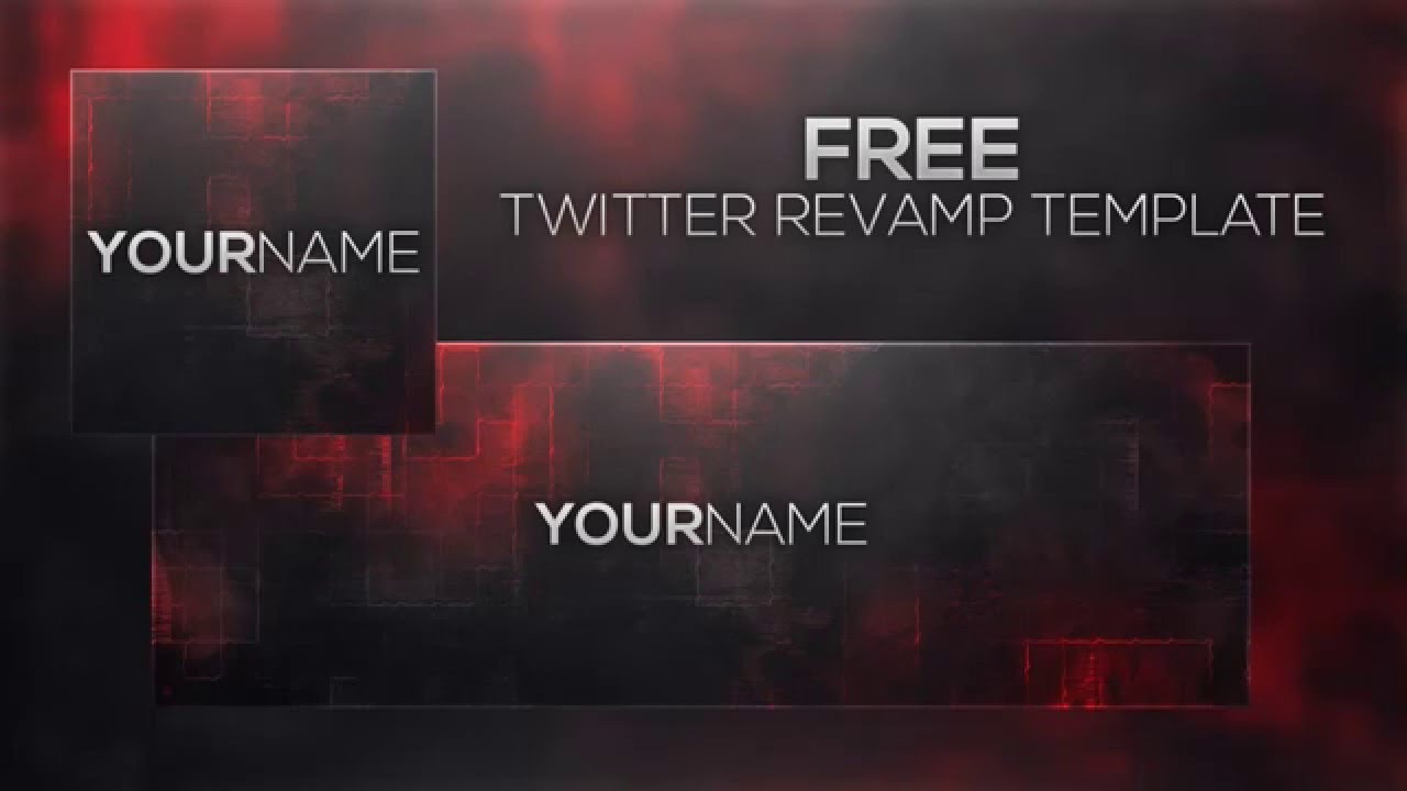 Free Twitter Revamp Template 2016 Youtube