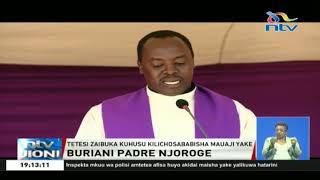 Padre Njoroge azikwa katika makaburi ya makasisi Msongari
