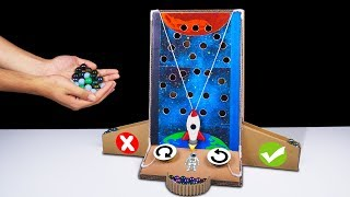 DIY How to make Marble Galaxy Arcade Board Game from Cardboard at Home