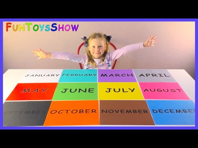 Learn Months in year for Children and Toddlers | Learn Colors for Kids