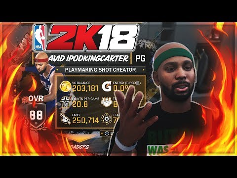NBA 2K18 PATCH 1 STREAM! CARRYING EVERYONE IN PRO AM WITHOUT A BACKPACK