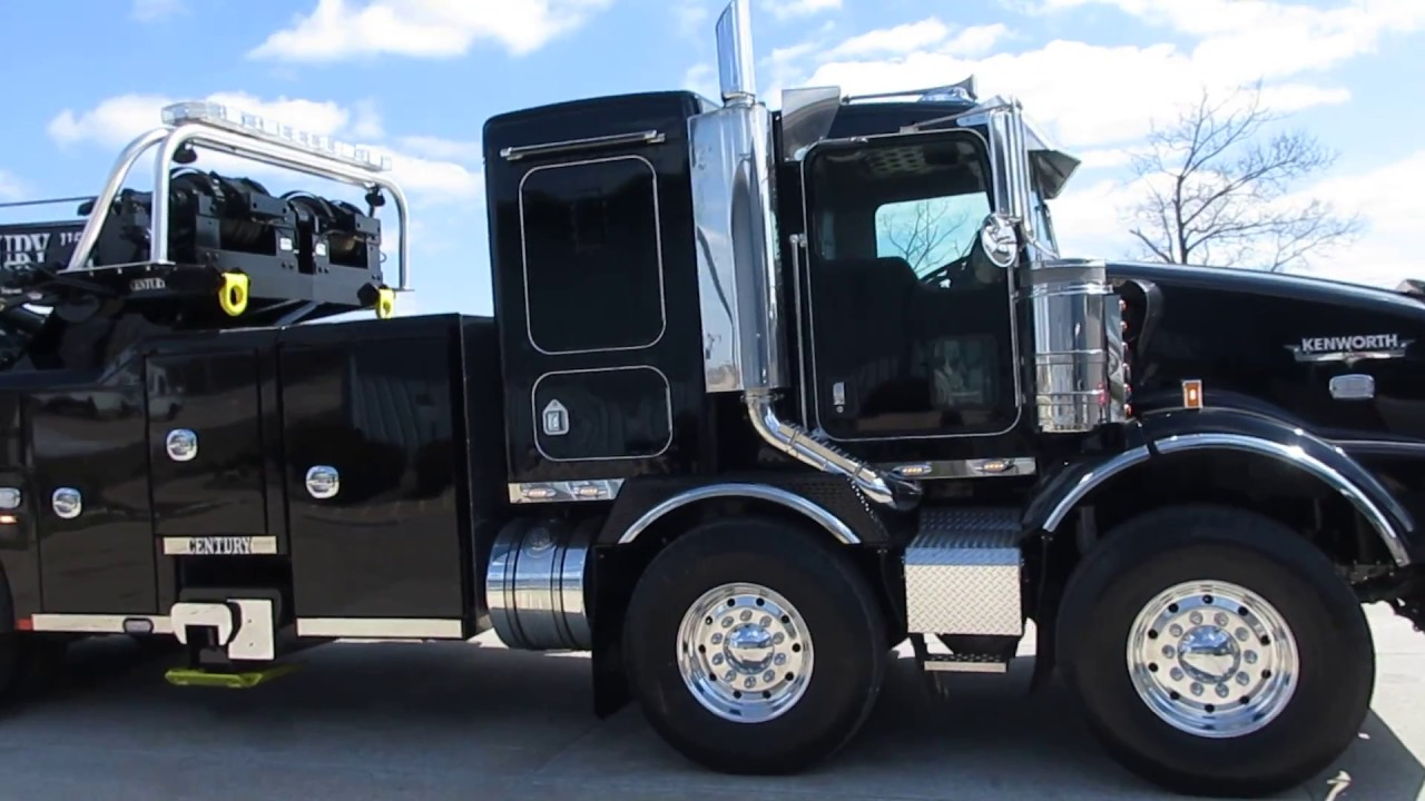 2005 kenworth t800 with 2018 century 1150 rotator [ 1280 x 720 Pixel ]