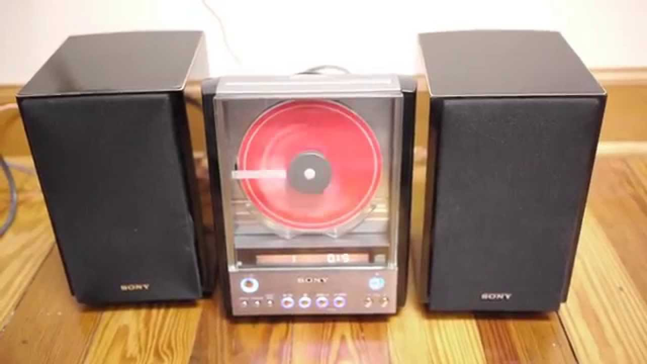 Sony Cmt Ex22 Hdc Mini Bookshelf Cd Player Stereo Ss Cex22 Speakers