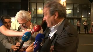 Ex-UEFA boss Platini released: