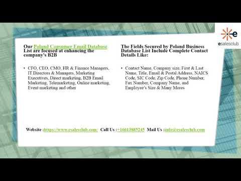 Best Poland Business Email List | Poland Business Mailing List