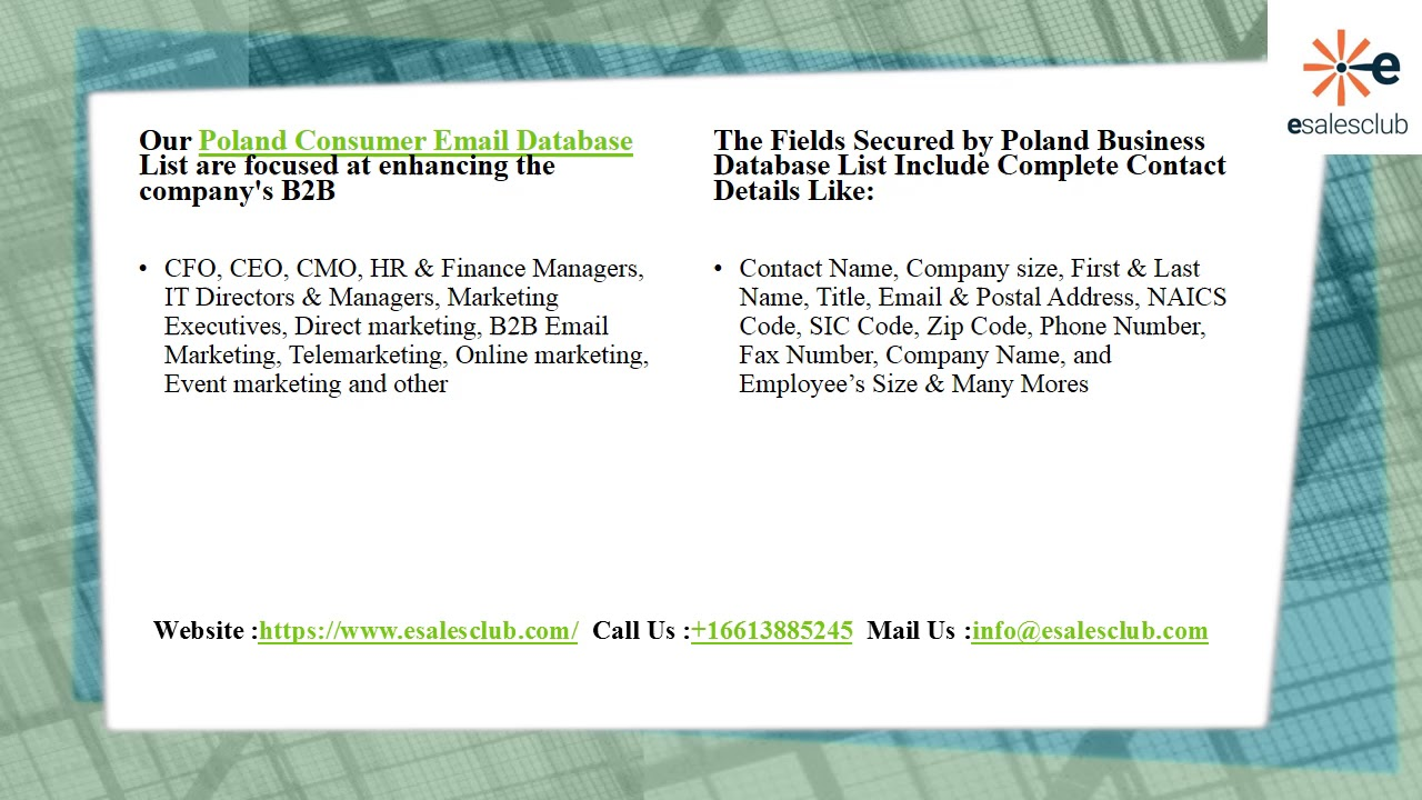 Best Poland Business Email List | Poland Business Mailing