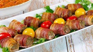 Горячее Блюдо или Закуска. Аппетитные Мясные Рулетики с Беконом на Праздничный Стол!