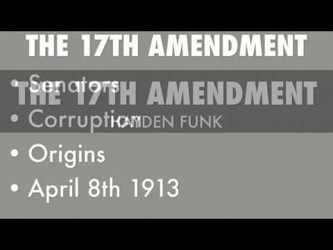 17th Amendment Keller Project