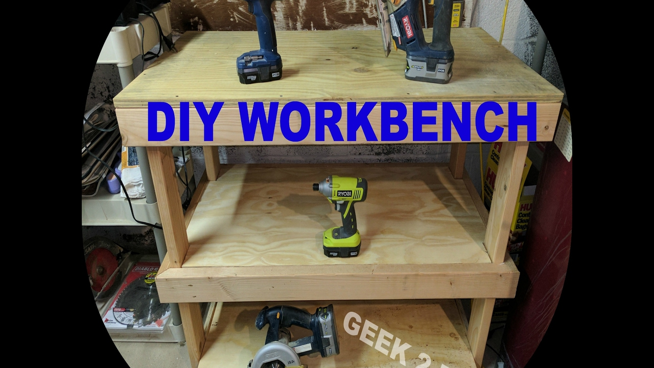 DIY WorkBench Garage Workbench DIY Garage Bench – Easy Garage Workbench Plans